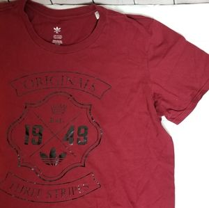 *NWOT!* ADIDAS graphic print maroon tee shirt